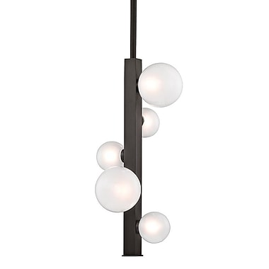 Willa Arlo Interiors Diannah 5-Light LED Cluster Pendant; Old Bronze