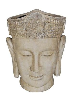 Sagebrook Home Decorative Buddha Head Flower Resin Statue Planter WYF078281628970