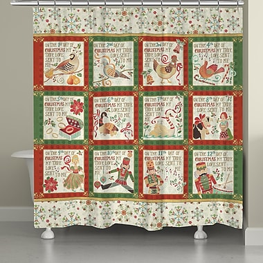The Holiday Aisle 12 Days Shower Curtain