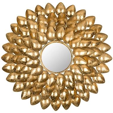Willa Arlo Interiors Sunburst Gold Metal Mirror