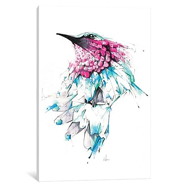 East Urban Home 'Hummingbird' Graphic Art on Wrapped Canvas; 12'' H x 8'' W x 0.75'' D