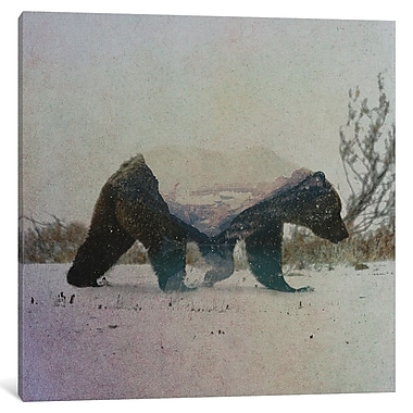 East Urban Home 'Grizzly Bear' Graphic Art on Wrapped Canvas; 26'' H x 26'' W x 1.5'' D