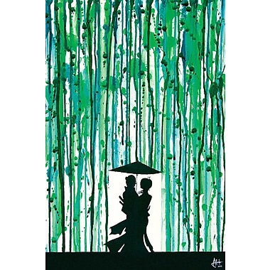 East Urban Home 'The Emerald Grove' Graphic Art on Wrapped Canvas; 40'' H x 26'' W x 0.75'' D