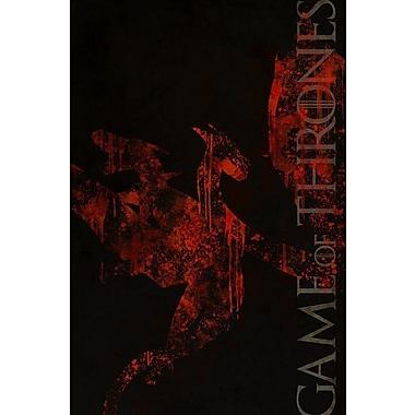 East Urban Home 'House Targaryen' Graphic Art on Wrapped Canvas; 40'' H x 26'' W x 1.5'' D