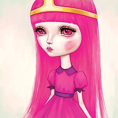 East Urban Home 'Adventure Time - Princess Bubblegum' Graphic Art on Wrapped Canvas