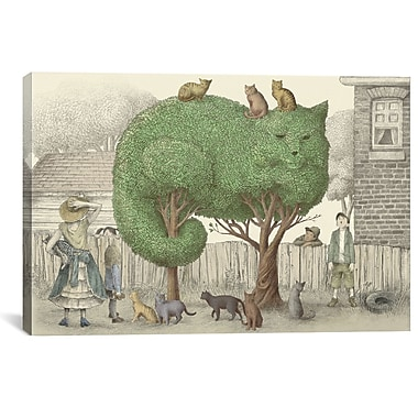 East Urban Home 'Illustrations from the Night Gardner' Graphic Art on Wrapped Canvas