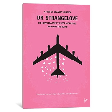 East Urban Home 'Dr Strangelove Minimal Movie Poster' Graphic Art on Wrapped Canvas