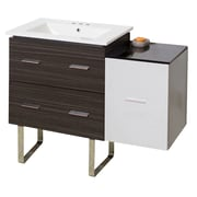 Orren Ellis Kyra 38'' Rectangle Single Bathroom Vanity; 4'' Centers