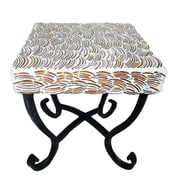 Bloomsbury Market Fanette Square Mosaic Side Table; 9'' L x 9'' W