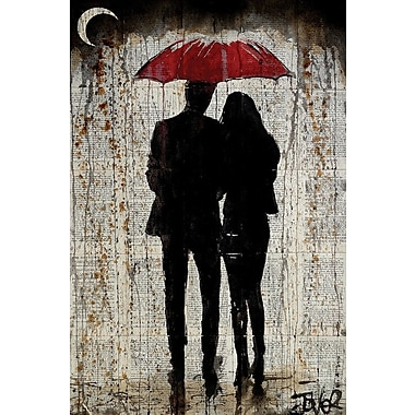 East Urban Home 'Some Rainy Day' Graphic Art on Wrapped Canvas; 26'' H x 18'' W x 0.75'' D