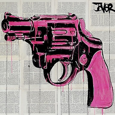 East Urban Home 'Pop Gun' Graphic Art on Wrapped Canvas; 18'' H x 18'' W x 1.5'' D
