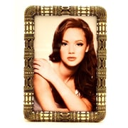 World Menagerie Vintage Picture Frame; Brass