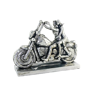 Williston Forge Polynesian Man and Woman on Motorcycle Figurine
