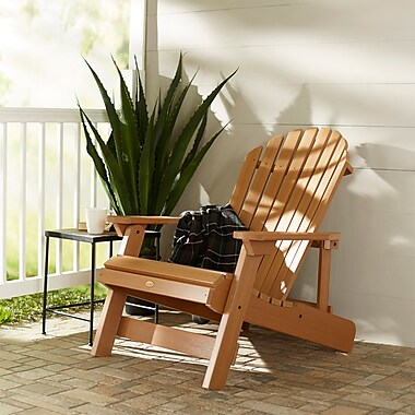 Breakwater Bay Amiya Folding & Reclining Adirondack Chair; Toffee