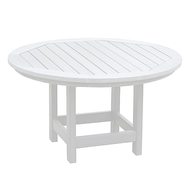 Breakwater Bay Amiya Round Coffee Table; White