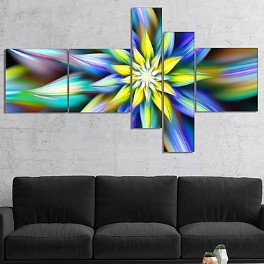 East Urban Home 'Dancing Multi Color Flower Petals' Graphic Art Print Multi-Piece Image on Canvas