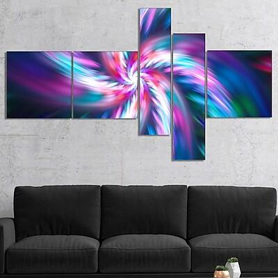 East Urban Home 'Dancing Multi Color Fractal Flower' Graphic Art Print Multi-Piece Image on Canvas