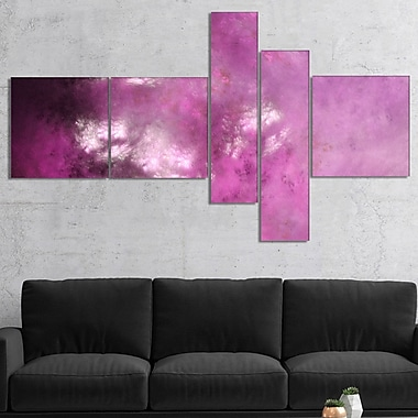 East Urban Home 'Blur Pink Sky w/ Stars' Print Multi-Piece Image on Canvas