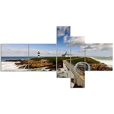 East Urban Home 'Bright Illa Pancha Lighthouse' Photographic Print Multi-Piece Image on Canvas