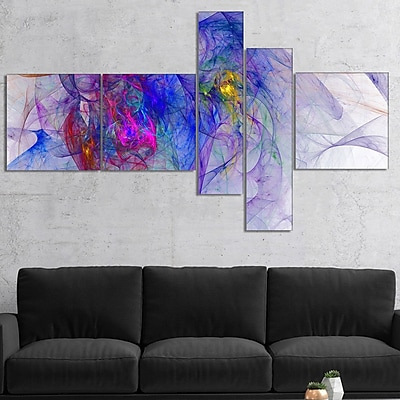 East Urban Home 'Blue Mystic Psychedelic Texture' Graphic Art Print Multi-Piece Image on Canvas
