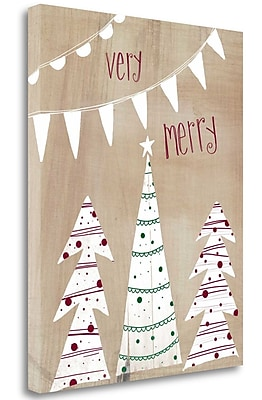 Tangletown Fine Art 'Very Merry' Graphic Art Print on Wrapped Canvas; 40'' H x 32'' W