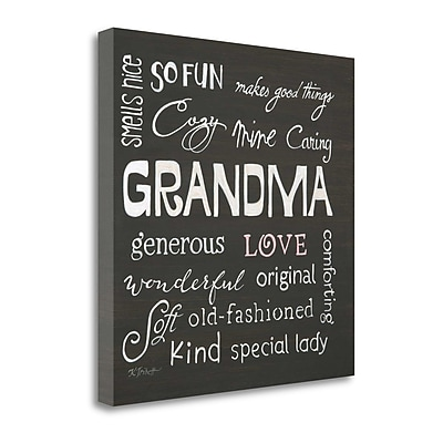 Tangletown Fine Art 'Grandma Love' Textual Art on Canvas; 24'' H x 24'' W
