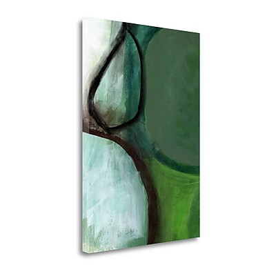 Tangletown Fine Art 'Green Abstract' Print on Canvas; 26'' H x 19'' W