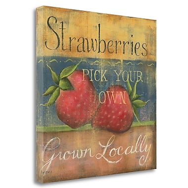 Tangletown Fine Art 'Strawberries' Print on Wrapped Canvas; 26'' H x 26'' W