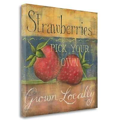 Tangletown Fine Art 'Strawberries' Print on Wrapped Canvas; 23'' H x 23'' W
