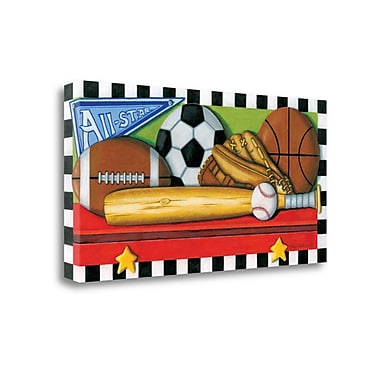 Tangletown Fine Art 'Sports' Graphic Art Print on Wrapped Canvas; 20'' H x 39'' W