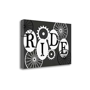 Tangletown Fine Art 'Ride' Textual Art on Canvas in Black; 15'' H x 23'' W