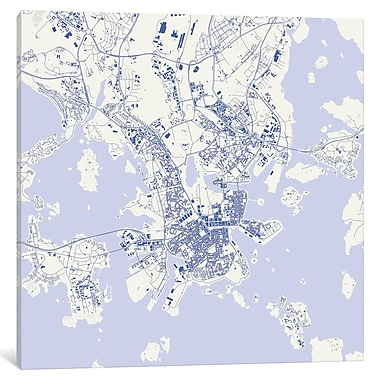 East Urban Home 'Helsinki' Hanging Graphic Art on Wrapped Canvas; 12'' H x 12'' W x 1.5'' D