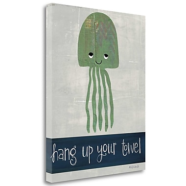 Tangletown Fine Art 'Hang up Your Towel' Graphic Art Print on Canvas; 32'' H x26'' W