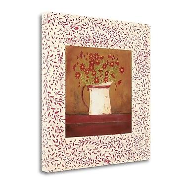 Tangletown Fine Art 'Petit Fleur I' Graphic Art Print on Canvas; 26'' H x 26'' W
