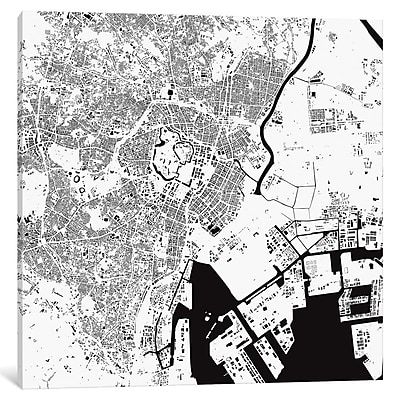 East Urban Home Tokyo' Art on Wrapped Canvas; 26'' H x 26'' W x 0.75'' D