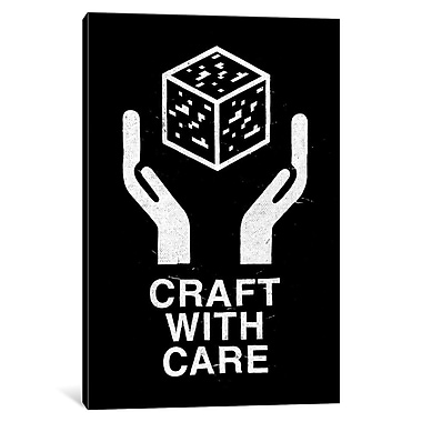 East Urban Home 'Craft w/ Care II' Graphic Art on Wrapped Canvas; 26'' H x 18'' W x 0.75'' D
