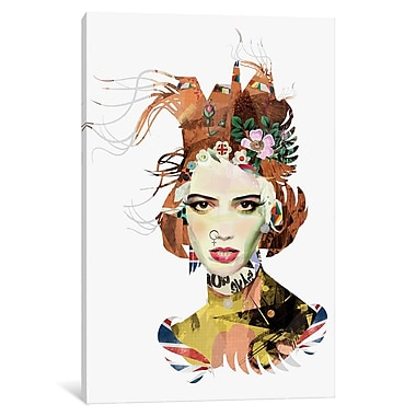 East Urban Home 'The Queen' Graphic Art on Wrapped Canvas; 40'' H x 26'' W x 1.5'' D