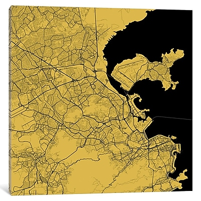 East Urban Home 'Rio de Janeiro' Graphic Art on Wrapped Canvas in Yellow; 26'' H x 26'' W x 1.5'' D