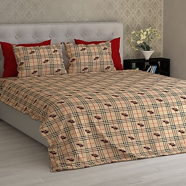 Latitude Run Barnard Electrical Squares Essential Printed 1800 Thread Count Sheet Set; King