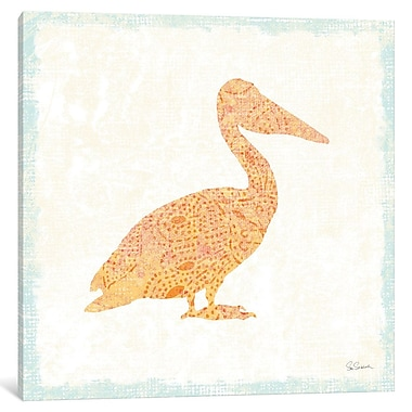 East Urban Home Flamingo Tropicale IX Graphic Art on Wrapped Canvas; 18'' H x 18'' W x 0.75'' D