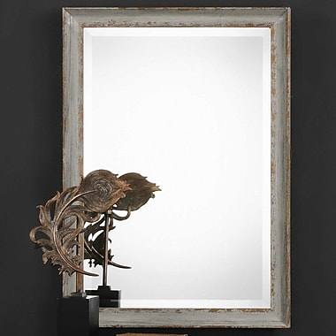 Bungalow Rose Rectangle Aged Framed Accent Mirror