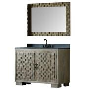 Bungalow Rose Claris 48'' Single Bathroom Vanity Set w/ Mirror