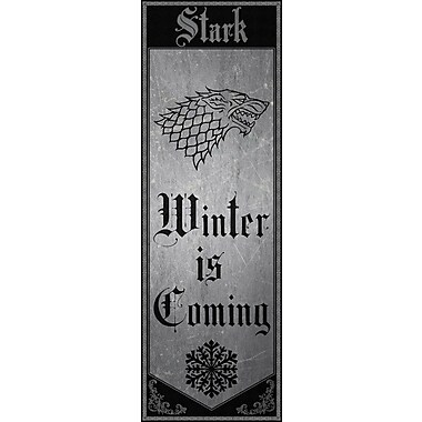 East Urban Home 'Banner of House Stark' Graphic Art on Wrapped Canvas; 48'' H x 16'' W x 1.5'' D