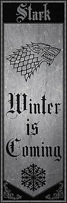 East Urban Home 'Banner of House Stark' Graphic Art on Wrapped Canvas; 36'' H x 12'' W x 1.5'' D