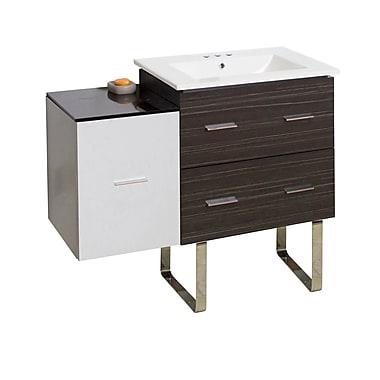 Orren Ellis Kyra 38'' Single Bathroom Vanity w/ 3 Drawers; 4'' Centers