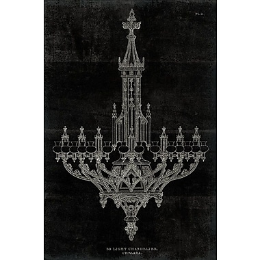 East Urban Home 'Ornamental Metal Work Chandelier' Graphic Art on Wrapped Canvas