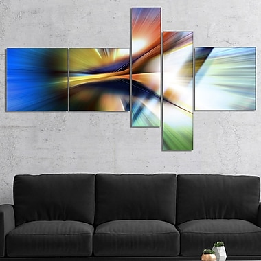 East Urban Home 'Rays of Speed Center' Graphic Art Print Multi-Piece Image on Canvas
