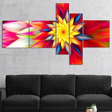 East Urban Home 'Amazing Dance of Red Petals' Graphic Art Print Multi-Piece Image on Canvas