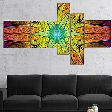 East Urban Home 'Extraordinary Fractal Yellow Design' Graphic Art Print Multi-Piece Image on Canvas
