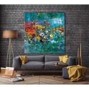 Latitude Run 'Carpe Diem 1' Oil Painting Print on Canvas; 54'' H x 54'' W